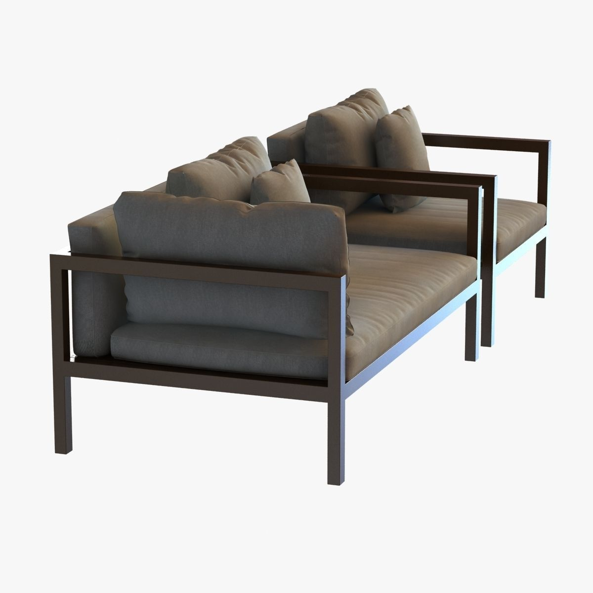 Kettal landscape sofa and chair 3d model max 3ds fbx for Sofa 3d model