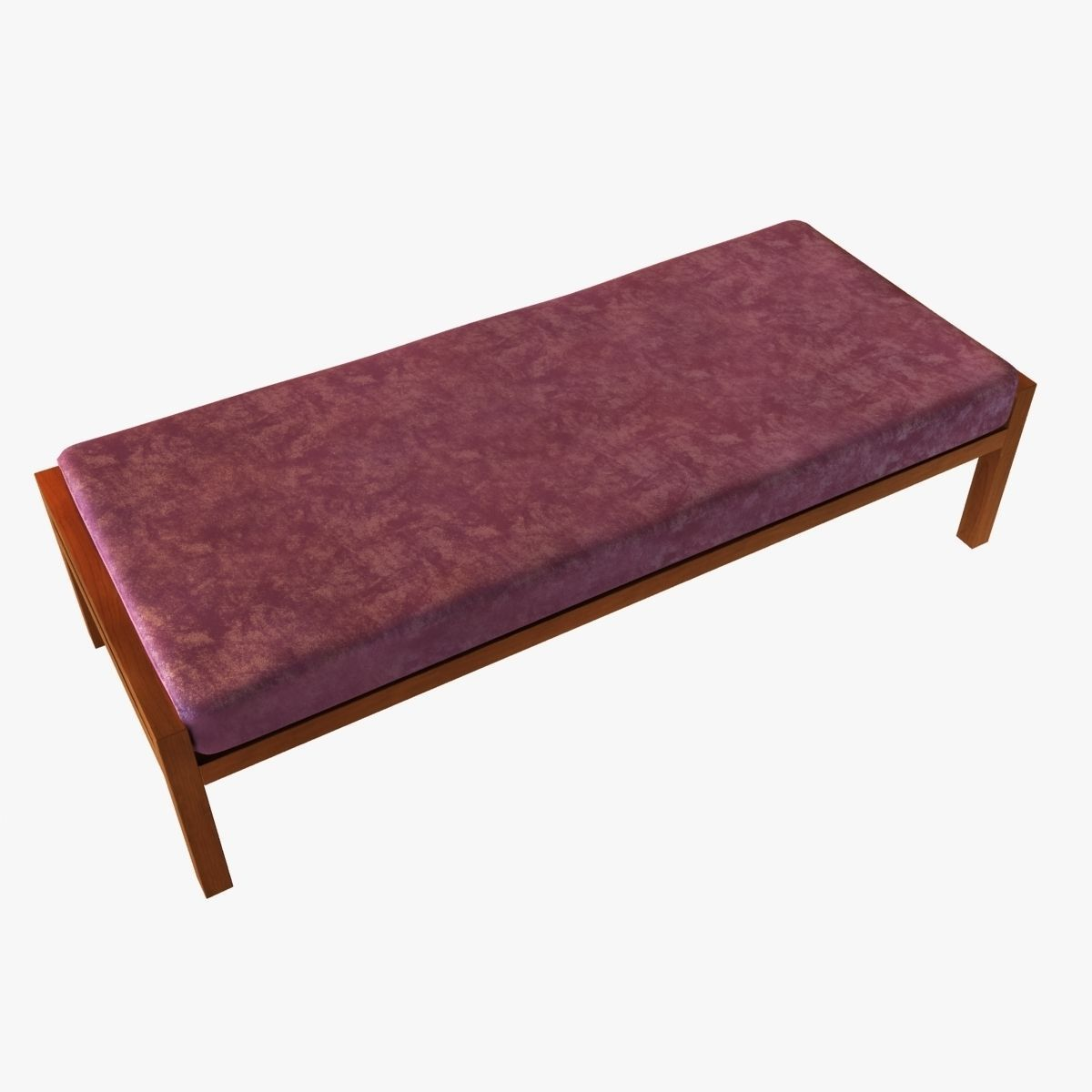 Wood Bench With Cushion 3d Model Max Obj Fbx
