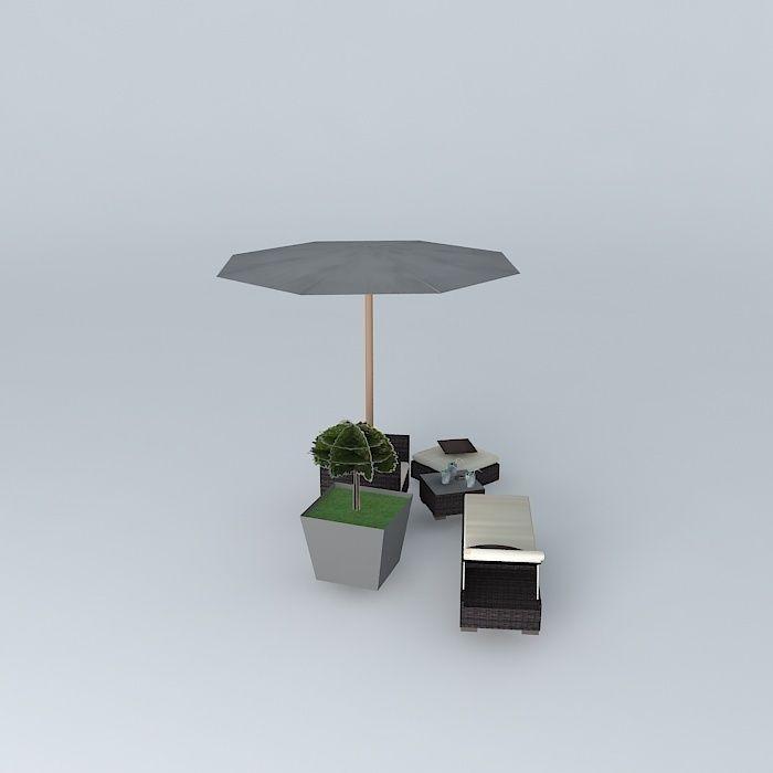 bali garden furniture maisons du monde 3d model max obj 3ds fbx stl dae. Black Bedroom Furniture Sets. Home Design Ideas