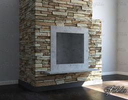 3D model Fireplace firewood