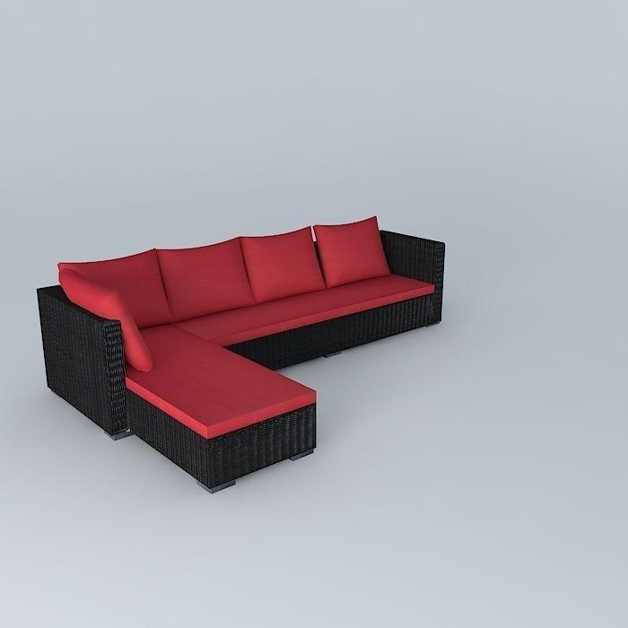 3D Sofa angle PORTO VECCHIO