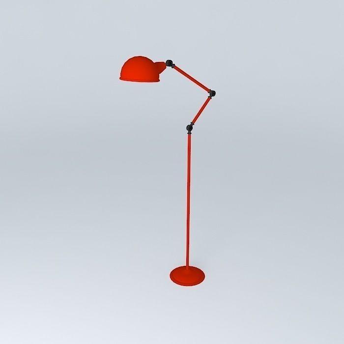 Zed red floor lamp houses the world