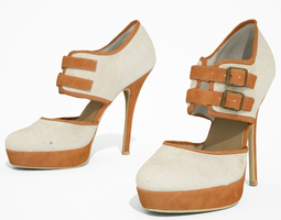 3d asset high heel shoe realtime
