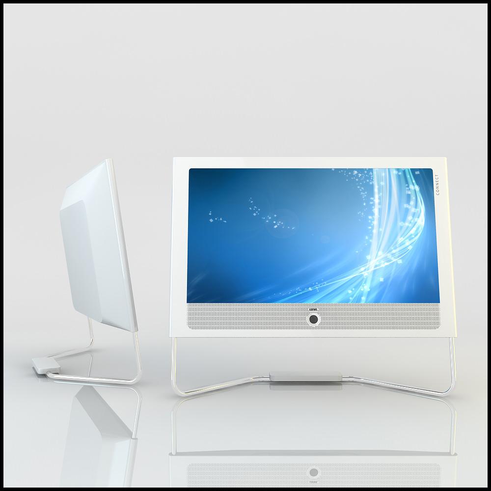 white lcd led tv loewe connect 3d models. Black Bedroom Furniture Sets. Home Design Ideas