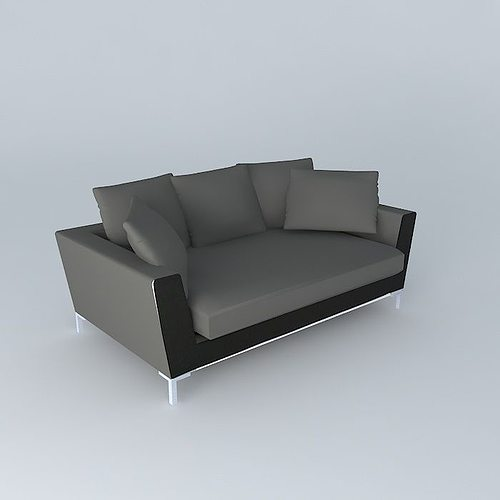 dublin the 3 seater sofa maisons du monde 3d model max obj mtl 3ds fbx stl dae 1