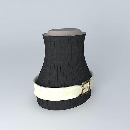 wide fashion belt ivory free 3d model max obj 3ds
