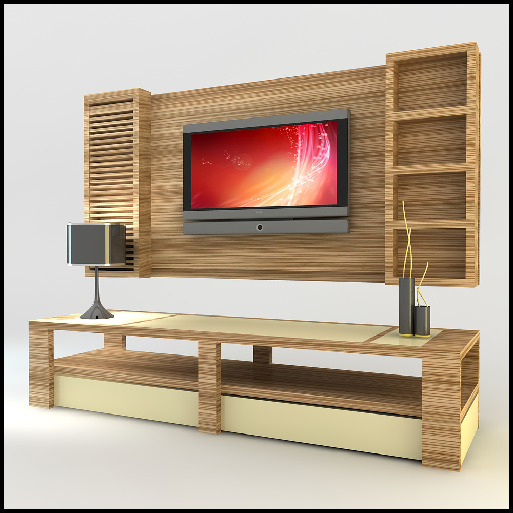 Tv wall unit modern design x 14 3d models - Contemporary tv wall unit designs ...