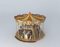 venetian carousel blackpool north pier 3d model