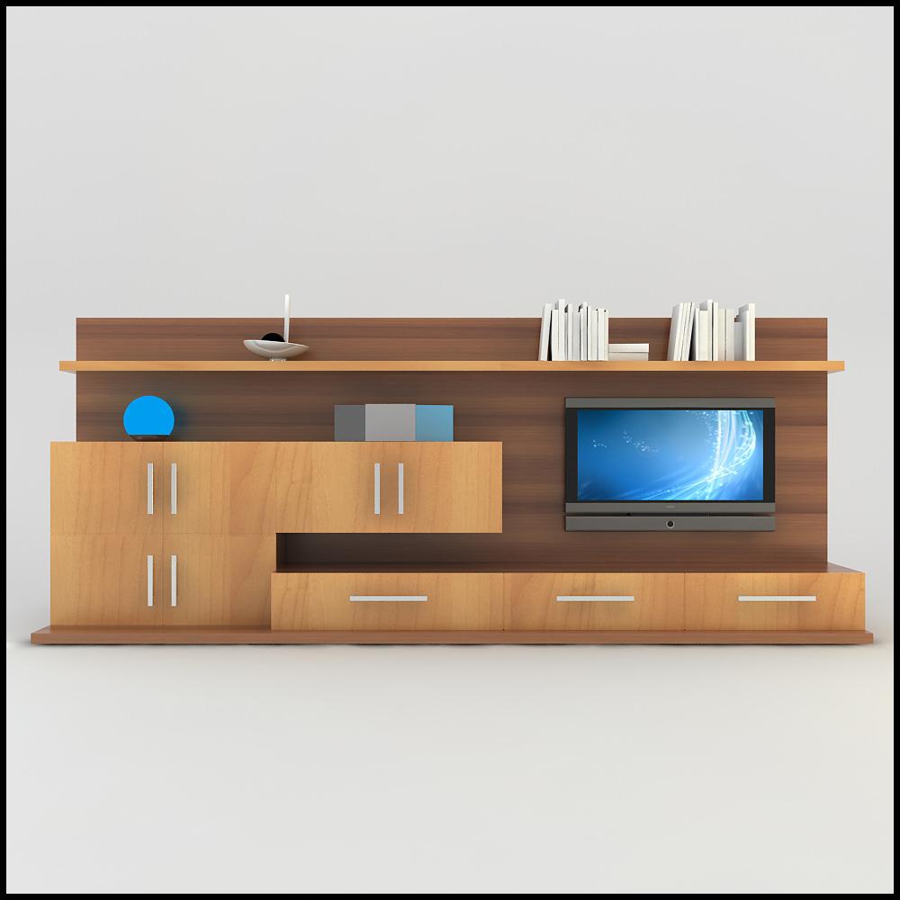 Tv wall unit modern design x 13 entertainment center scene 3d models - Modern tv unit designs ...