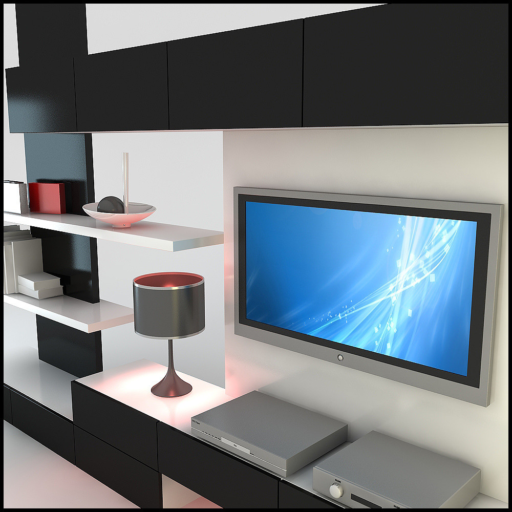 Tv wall unit modern design x 20 - Modern tv interior design ...