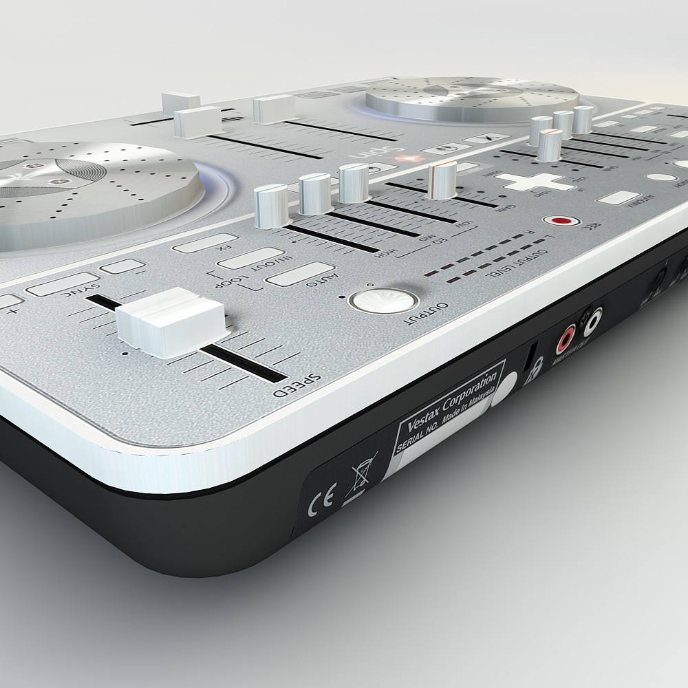 3D Model VESTAX spin DJ Mixer Low Poly! 3D model
