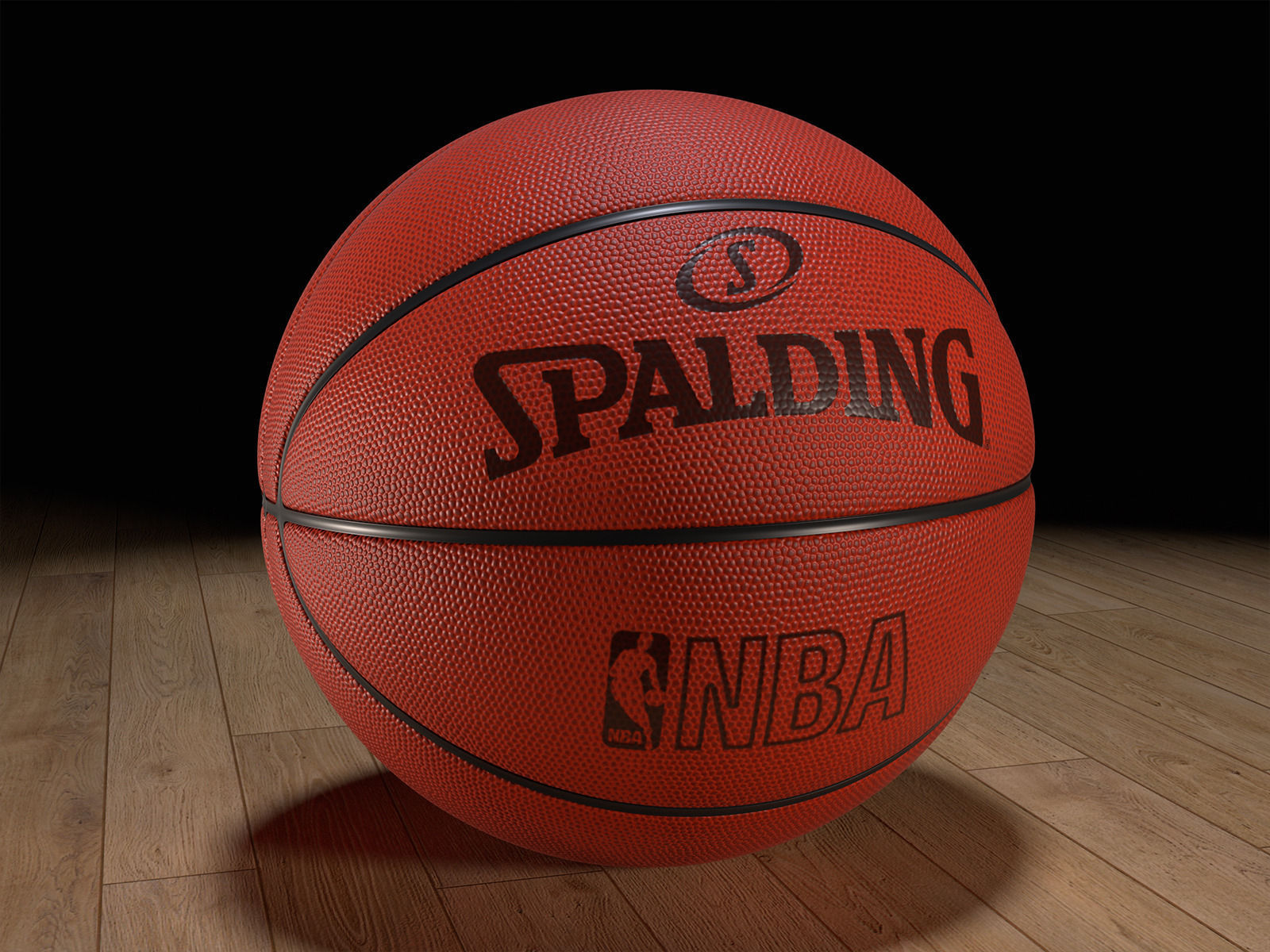 huge selection of d52c5 51aa8 Basketball Spalding NBA Realistic Game Ball 3D model