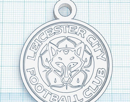leicester city fc pendant for car or keychain 3d printable model