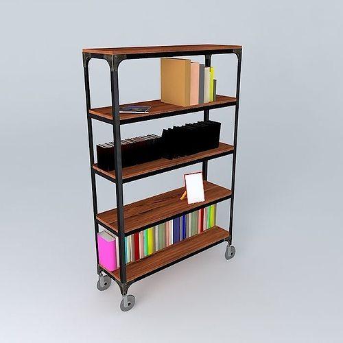 shelf industry maisons du monde  3d model max obj 3ds fbx stl dae 1
