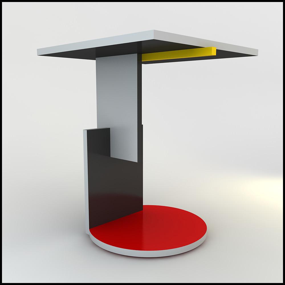 gerrit rietveld schroeder table 3D Models CGTrader