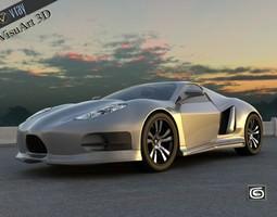 Concept Custom SuperSport Car 3 3D Model