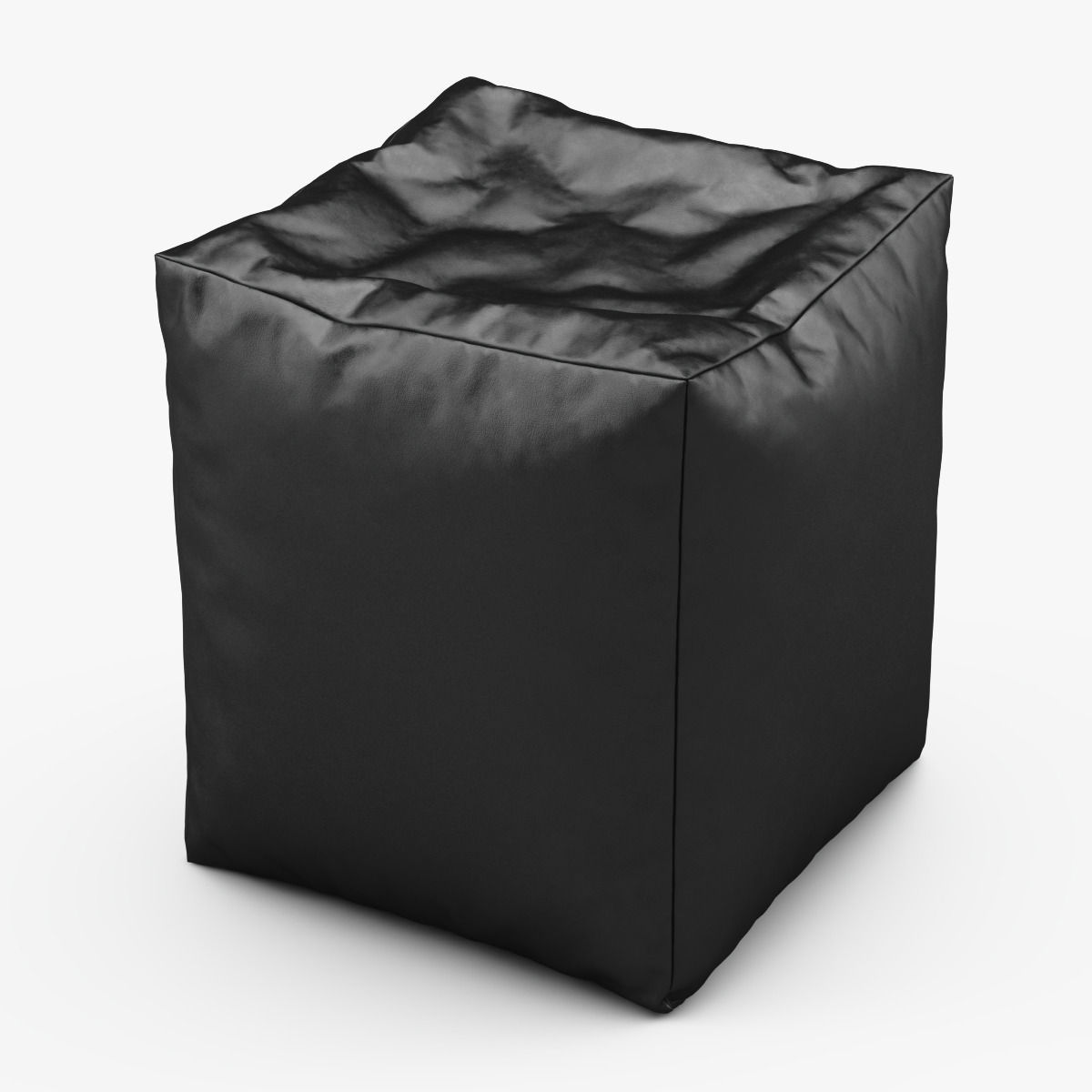 CUBE Bean Bag Faux Leather BLACK