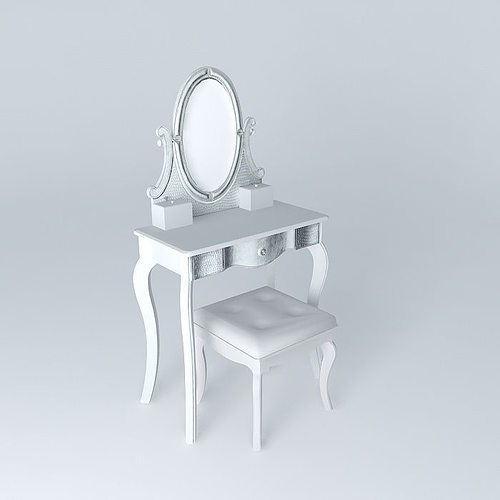 diamant dressing table maisons du monde 3d cgtrader. Black Bedroom Furniture Sets. Home Design Ideas