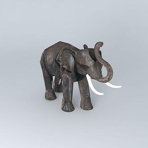 elephant maisons du monde 3d model cgtrader. Black Bedroom Furniture Sets. Home Design Ideas