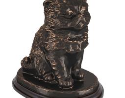 Bronze statue of cat 3D