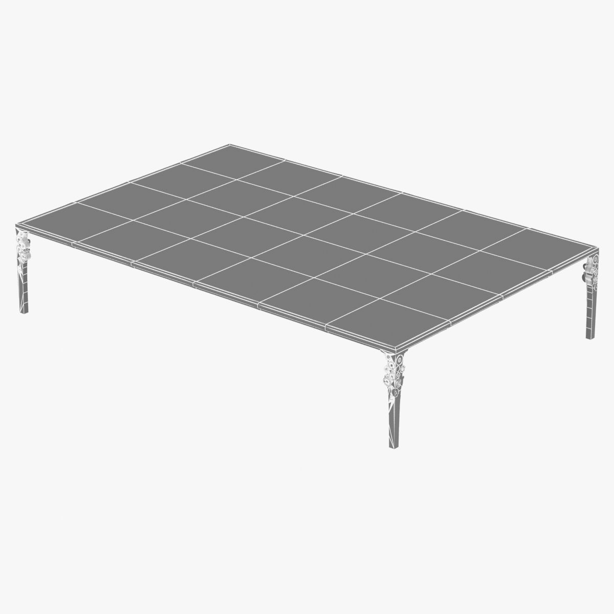 Ingrid donat table basse anneaux 3d model max obj 3ds for Table basse 3 suisses