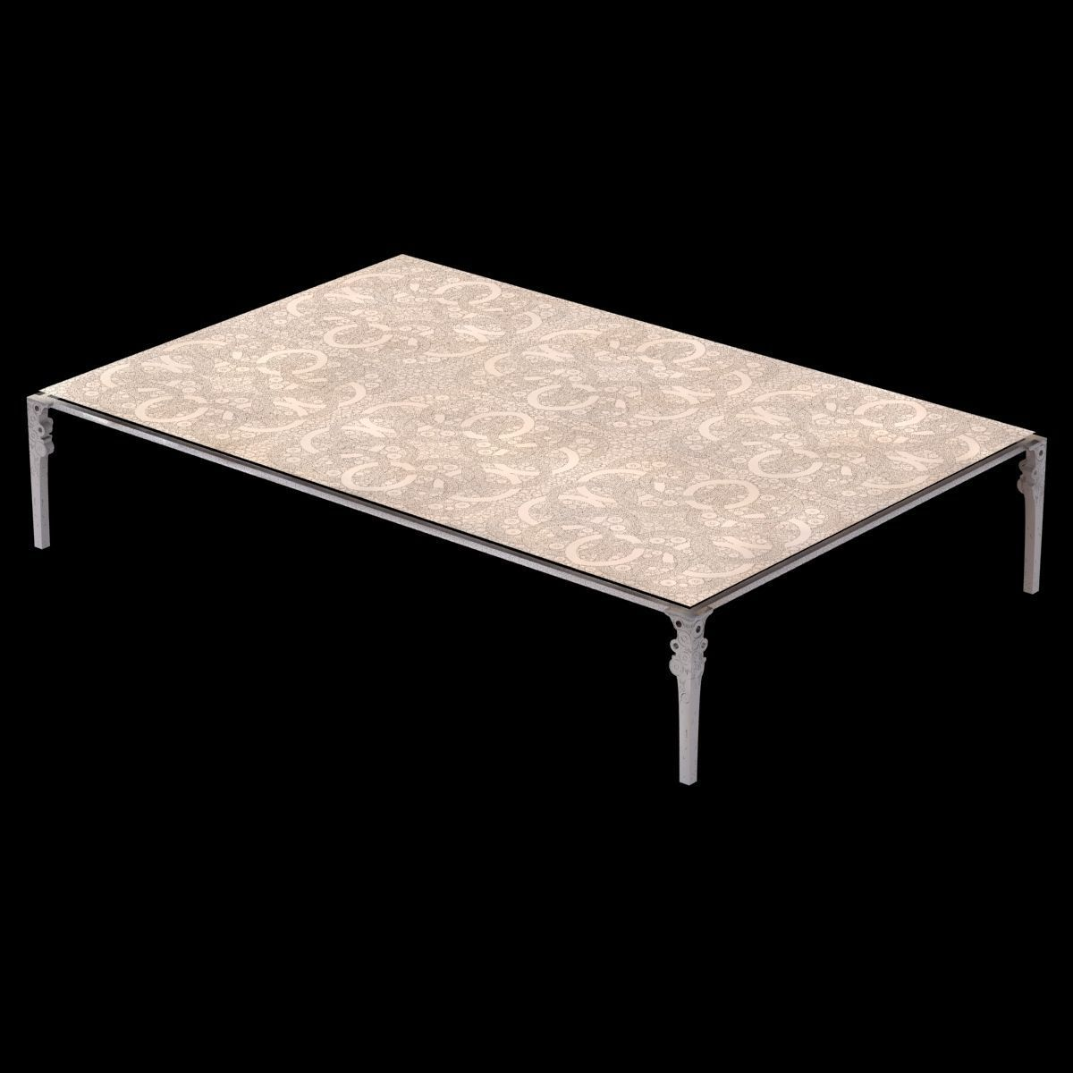 Ingrid donat table basse anneaux 3d model max obj 3ds - Tables basses carrees ...