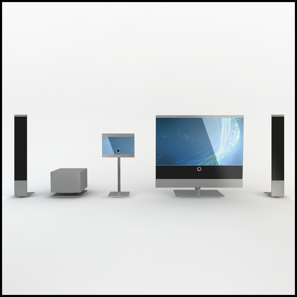 Loewe Reference 52 Home Theatre Media Room Equipment 3D Model .max