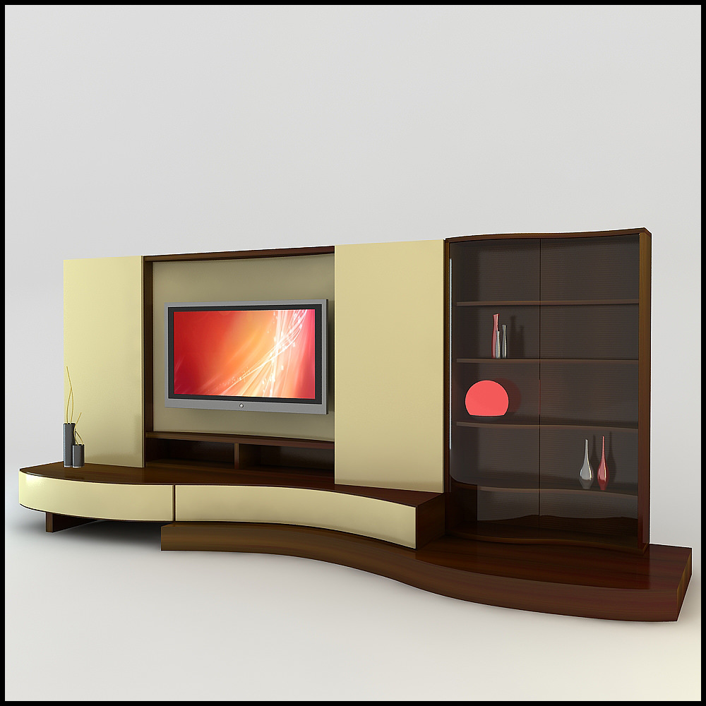 Tv wall unit modern design x 17 3d models for Modern tv unit design ideas