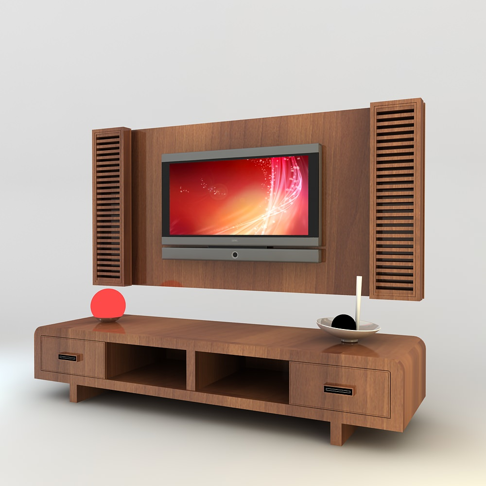 Tv wall unit modern design x 11 3d models - Contemporary tv wall unit designs ...
