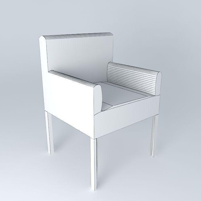 Armchair White PVC LOUNGE houses the world 3D Model x obj 3ds fbx l