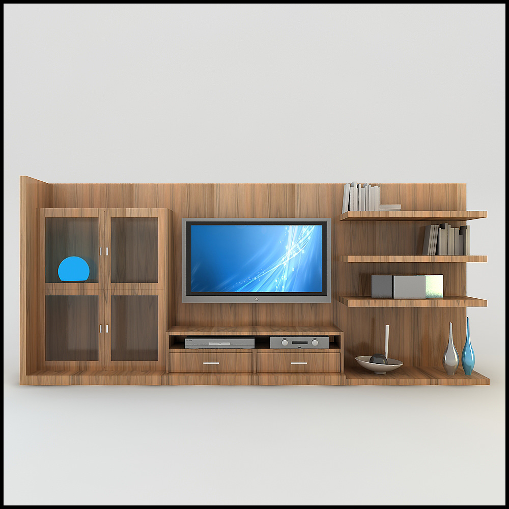 Tv Wall Unit Modern Design X 18 3d Models