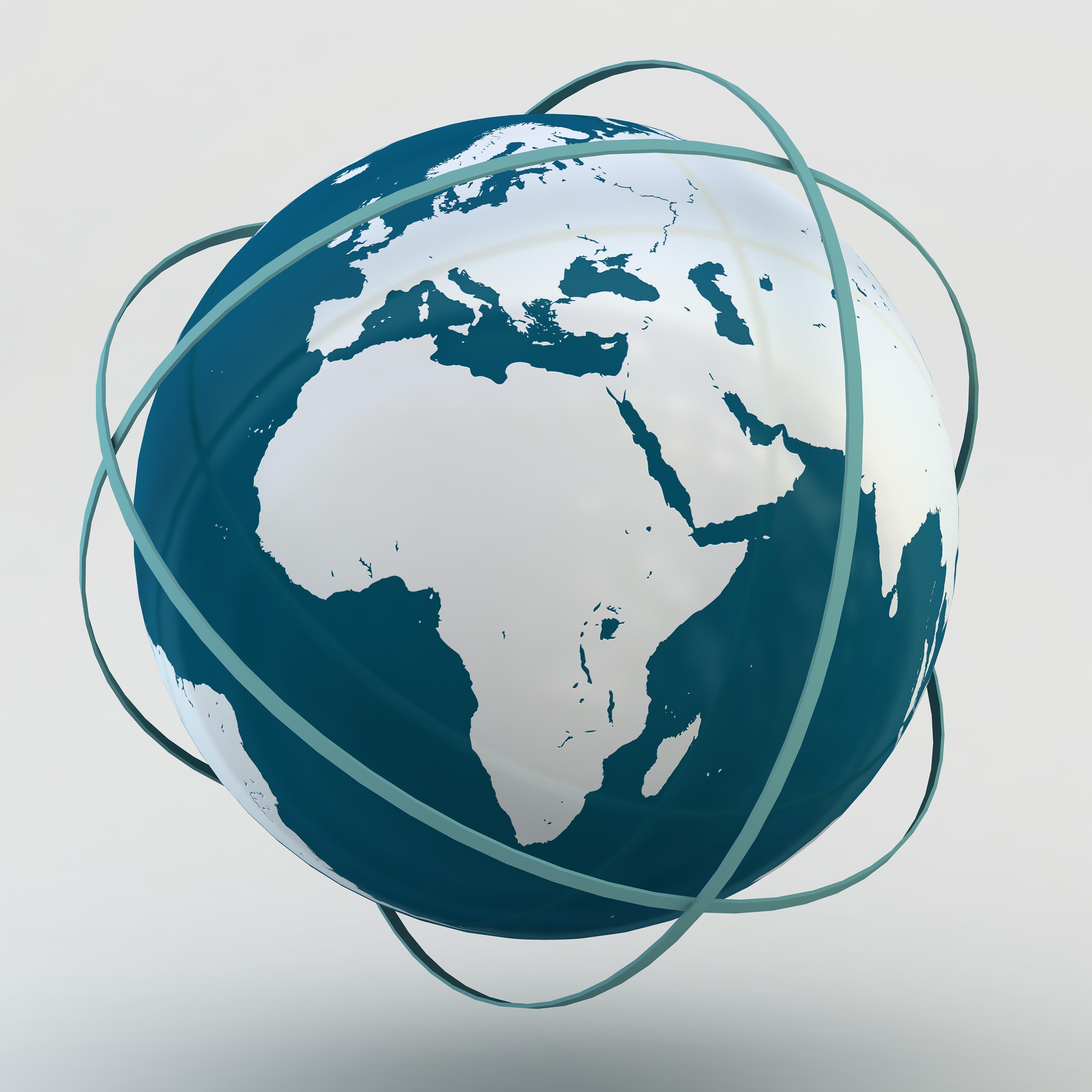 Internet earth sign globe striped w01 3d models cgtrader com