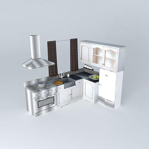 kitchen saint rrmy the world homes 3d model max obj 3ds fbx stl dae 1