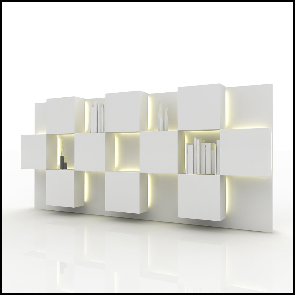 Tv wall unit modern design x 07 3d models - Contemporary tv wall unit designs ...