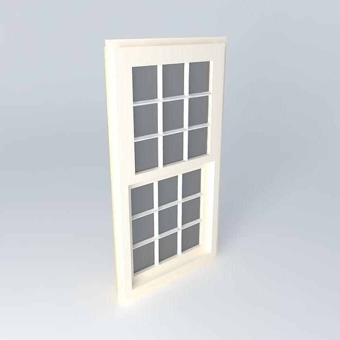 Window Vinyl 32 60 With Dividers Pjw Skp Free 3d Model