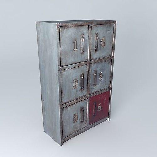 3d the cabinet newton maisons du monde cgtrader. Black Bedroom Furniture Sets. Home Design Ideas