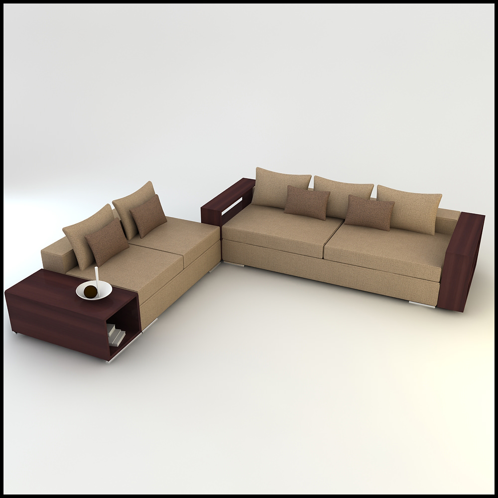 Corner Sofa Room Designs: Corner Sofa Design Csd 02 3D Models