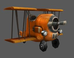 Aircraft Toon 3D Model