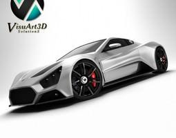 Zenvo ST1 Super Car 3D Model