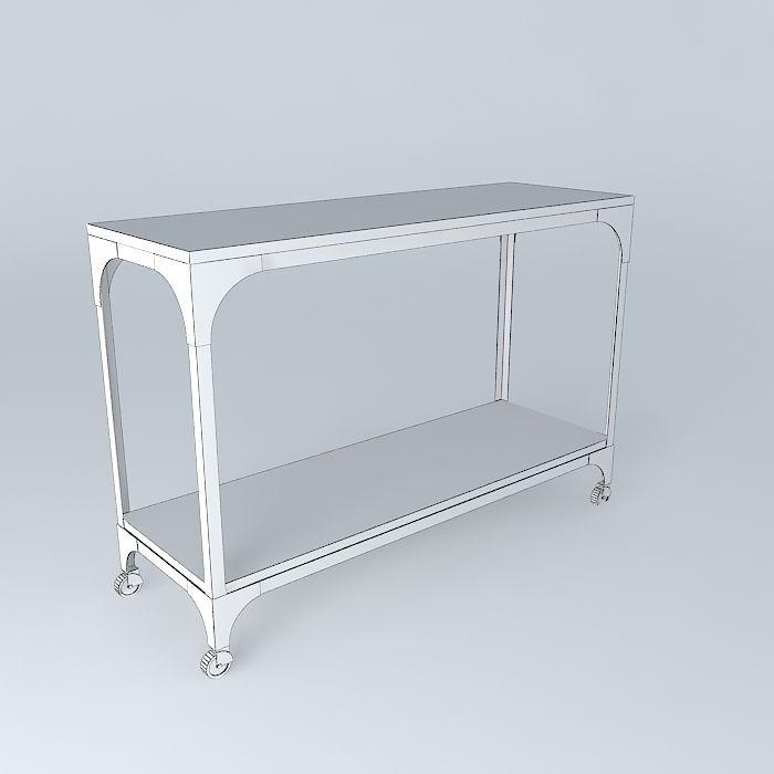 console arcachon maisons du monde 3d model max obj 3ds. Black Bedroom Furniture Sets. Home Design Ideas