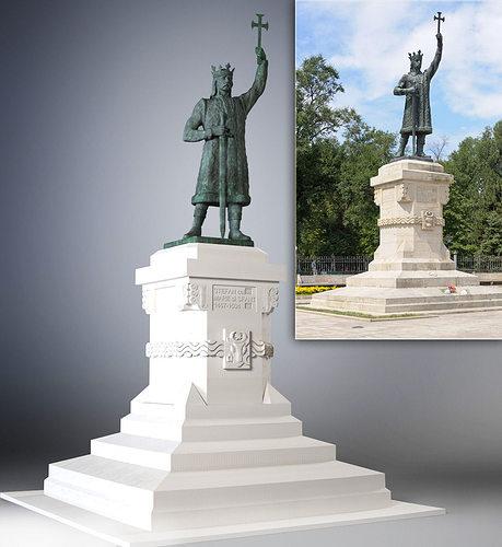 statue of stefan cel mare si sfant 3d model max stl 1