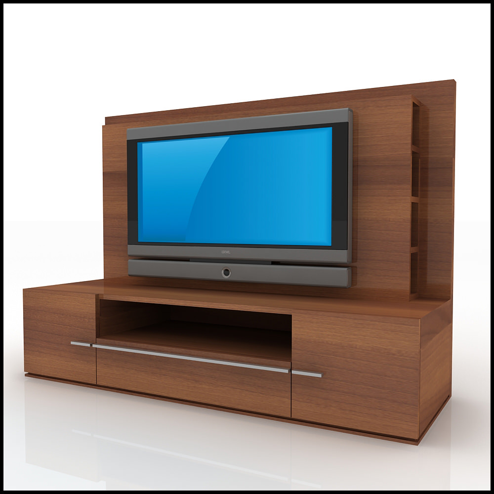 Tv wall unit modern design x 02 3d models Tv unit designs for lcd tv