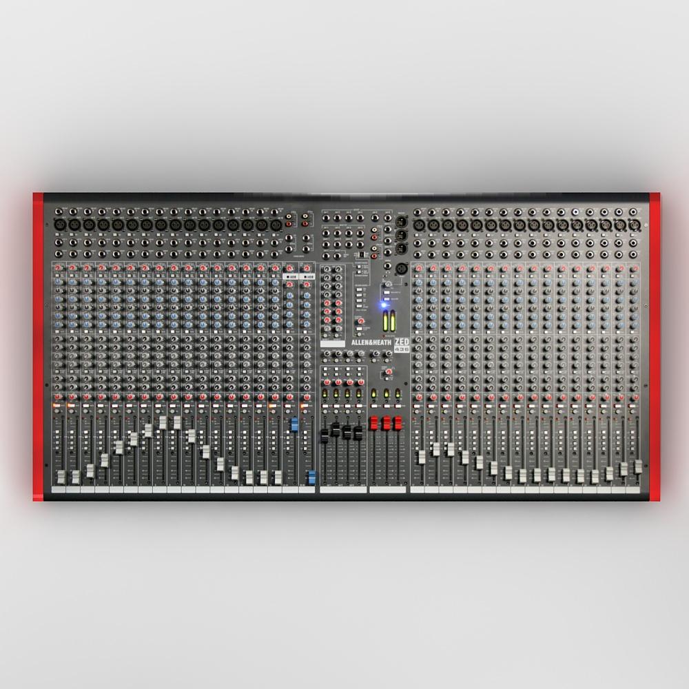 Allen & Heath ZED 436 Audio Mixer DJ 3D model