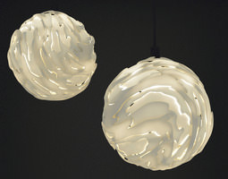 Flo Hanging light Shade Big 3D Model