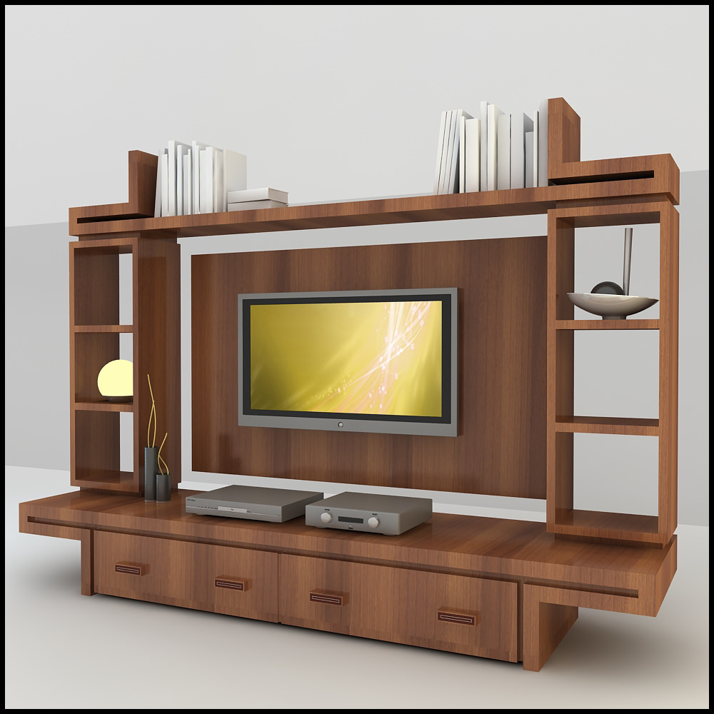 Tv wall unit modern design x 16 3d models Modern tv unit design ideas