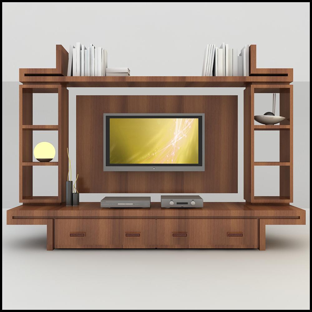 tv wall unit modern design x 16 3d models. Black Bedroom Furniture Sets. Home Design Ideas