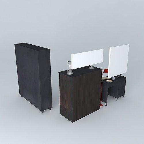 the office edison houses of the world 3d model max obj mtl 3ds fbx stl dae 1