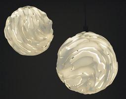 3d print model flo hanging light shade small