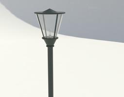 Park lamp 01 3D Model
