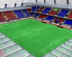 3D model Soccer football stadium high detail